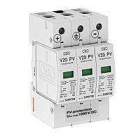 Разрядник для защиты от перенапряжений V20 для фотогальванических установок, 1000 В постоянного тока