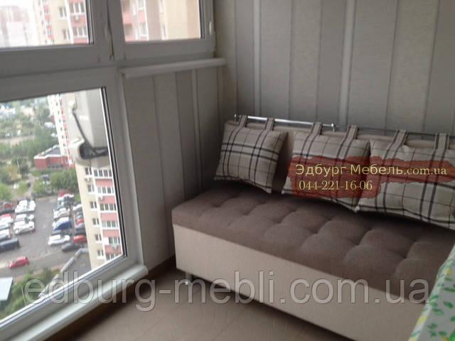 """Диван для кухні, лоджії, балкони """"Комфорт"""" рогожка 1100х500мм"""