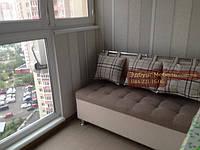 """Диван для кухні, лоджії, балкони """"Комфорт"""" рогожка 1100х500мм, фото 1"""