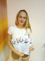 Иванова Вероника - выпускница курса инструкторов по йоге в школе Олимпия