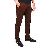 Рыжие однотонные мужские джинсы чинос FORKY, фото 1