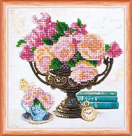 Набор для вышивки бисером «Садовые цветы»