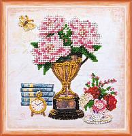 Набор для вышивки бисером «Натюрморт с часами»