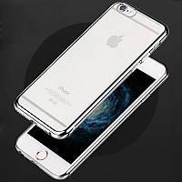 Силиконовый чехол для iPhone 5 / 5S / SE Silver, фото 1