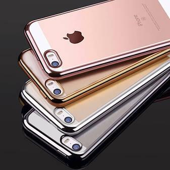 Силіконовий чохол для iPhone 5 / 5S / SE Silver, фото 2