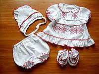 Крестильная вышиванка для девочки Вышитое платье для новорождённой девочки  Крестильная рубашка