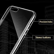 Силіконовий чохол для iPhone 5 / 5S / SE Silver, фото 3