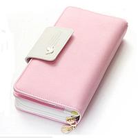 Женский кошелек,клатч Baellerry Summer  Розовый с белым