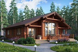 Деревянные дома из клеенного профилированного бруса
