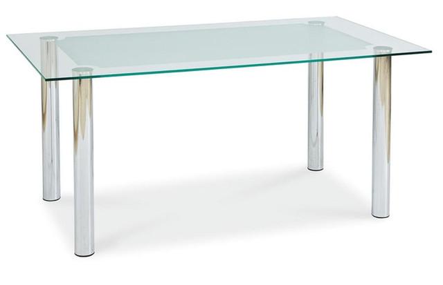 Столы стеклянные однополочные