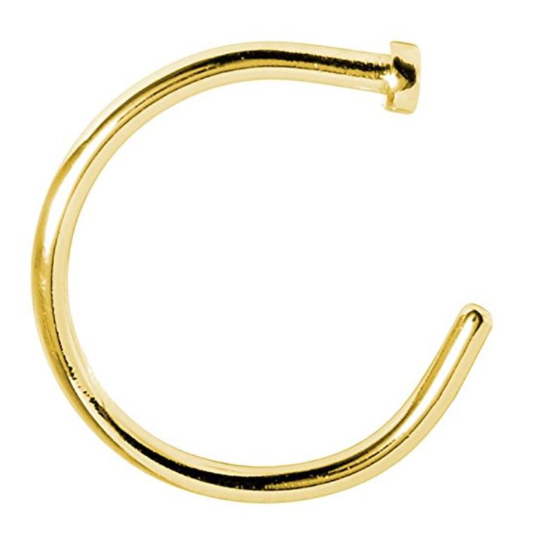 Серьга для пирсинга носа Classic Золото