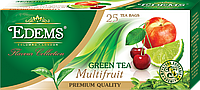 """Зеленый ароматизированный чай в фильтр-пакетах """"Edems Multifruit"""" (25 ф/п)"""