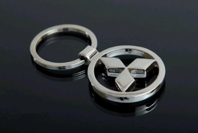 Брелок у вигляді значка MITSUBISHI (мітсубіші) метал SKU0000813