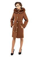Пальто зимнее женское кашемировое M-152-31-Z-M Коричневый (Мокко)