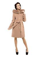 Пальто зимнее женское кашемировое M-152-32-Z-M темный беж