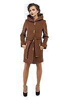 Пальто зимнее модное кашемировое  M-152-31-Z Коричневый (Мокко)