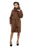 Пальто женское зимнее 2016 кашемировое M-150-31-Z-M Коричневый (Мокко)