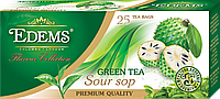 """Зеленый ароматизированный чай в фильтр-пакетах """"Edems Soursop"""" (25 ф/п)"""