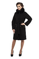 Пальто женское зимнее 2016 кашемировое M-150-14-Z-M черное