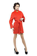Пальто женское демисезонное кашемировое M-147-55-D-SH оранжевое