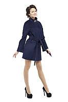 Пальто женское демисезонное кашемировое  M-147-01-D-SH Темно-синий