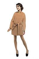 Пальто женское демисезонное кашемировое M-147-25-D-SH кирпич