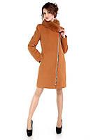 Пальто женское кашемировое зимнее,магазин пальто М-131-22-Z-М Горчица