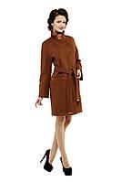 Пальто женское кашемировое демисезонное M-159-31-D Коричневый (Мокко)