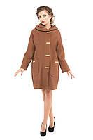 Пальто женское демисезонное модное M-157-31-D Коричневый (Мокко)