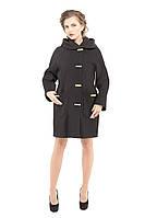 Пальто женское демисезонное модное  M-157-14-D черное
