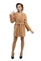 Пальто женское модное демисезонное M-153-32-D Темный беж