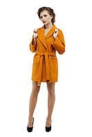 Пальто женское модное демисезонное M-153-22-D Горчица