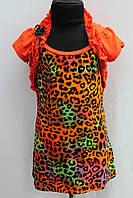 Детское оранжевое платье сарафан с накидкой возраст от 6 до 10 лет