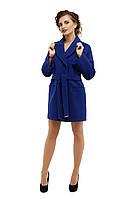 Пальто женское модное демисезонное M-153-07-D Электрик