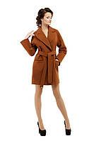Пальто женское модное демисезонное M-153-31-D Коричневый (Мокко)