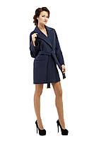 Пальто женское модное демисезонное M-153-10-D Темно-синий