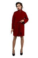 Драповое пальто женское M-150-23-D Кирпич