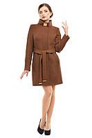 Модные пальто из кашемира демисезонное M-148-31-D Коричневый (Мокко)
