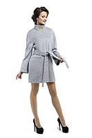Драповое пальто женское M-147-29-D-SH Серый
