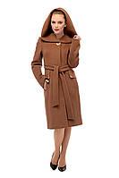 Пальто зимнее женское приталенное кашемировое Коричневый (Мокко) M-162-31-Z