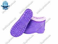 Женские галоши (Код: ГП-06 мех фиолет)