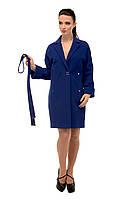 Пальто женское кашемировое осеннее M-163-07-D Электрик,магазин пальто