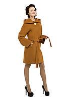 Пальто женское кашемировое осеннее Горчица M-149-22-D,магазин пальто
