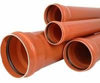 Труба канализационная наружная 110х3,2x2 м