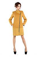 Пальто демисезонное женское модное из кашемира M-134-08-D Желтый