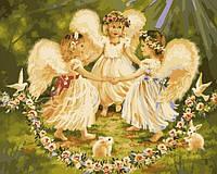 Картина по номерам Ангельский хоровод (BRM7296) 40 х 50 см