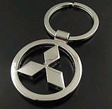 Брелок у вигляді значка MITSUBISHI (мітсубіші) метал SKU0000813, фото 2
