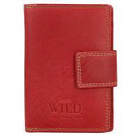 Женский кожаный кошелек Always Wild 509-MH Red