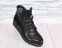 Осенние ботинки с резиновым шнурком. Натуральная кожа 1515