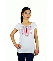 Футболка вишита жіноча. Футболка білого кольору з вишивкою. Вишиті футболки жіночі.